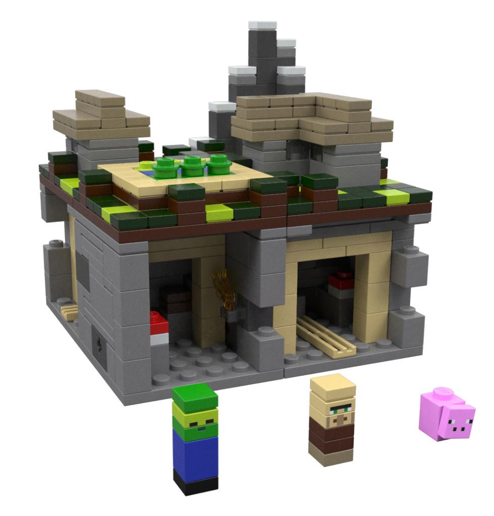 Lego-Minecraft_Village