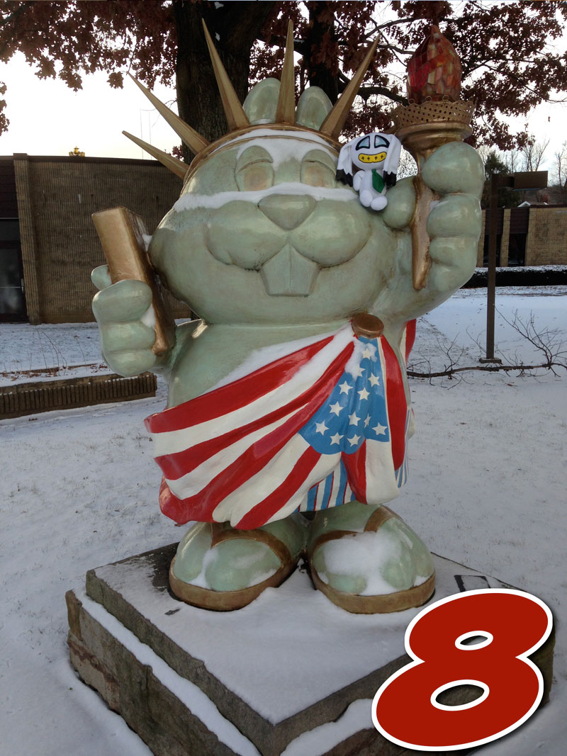 Statue of Liberty Phantastic Phil in Punxsutawney PA