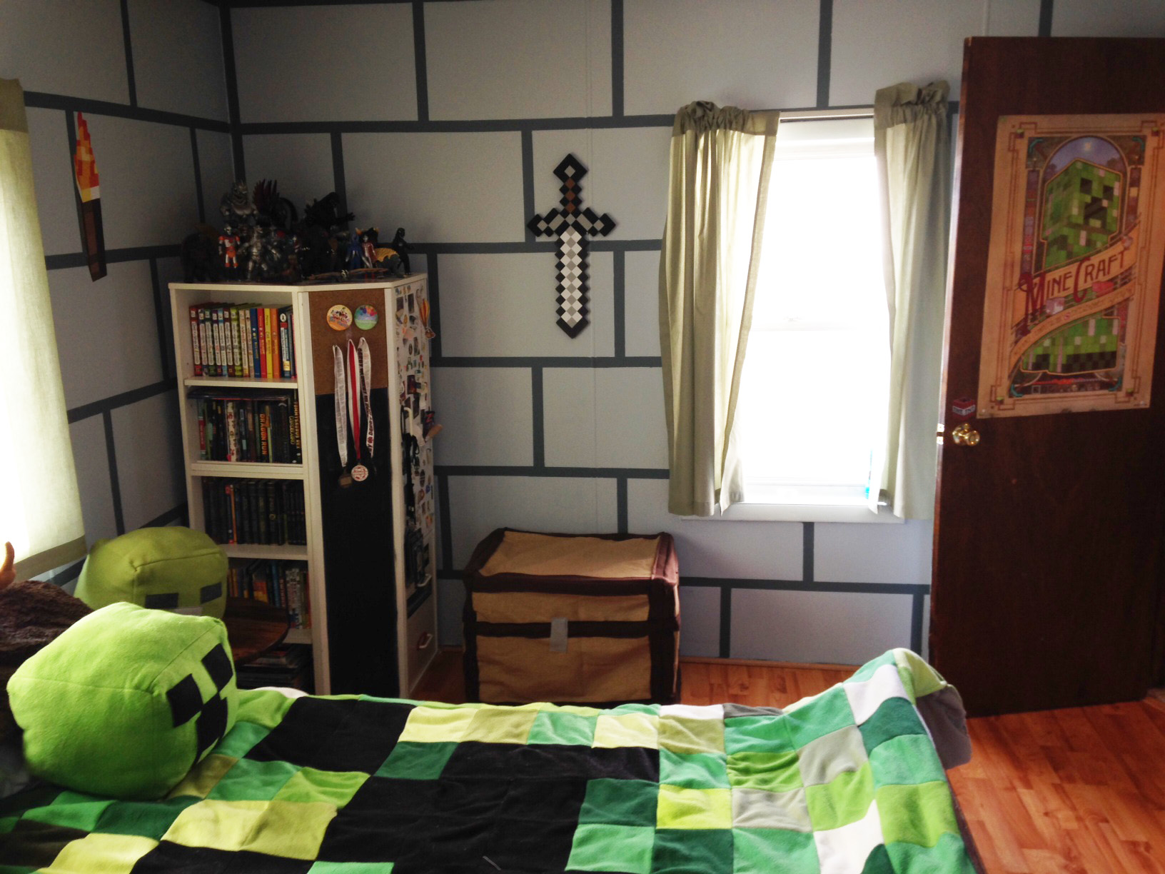 minecraft diy bedroom