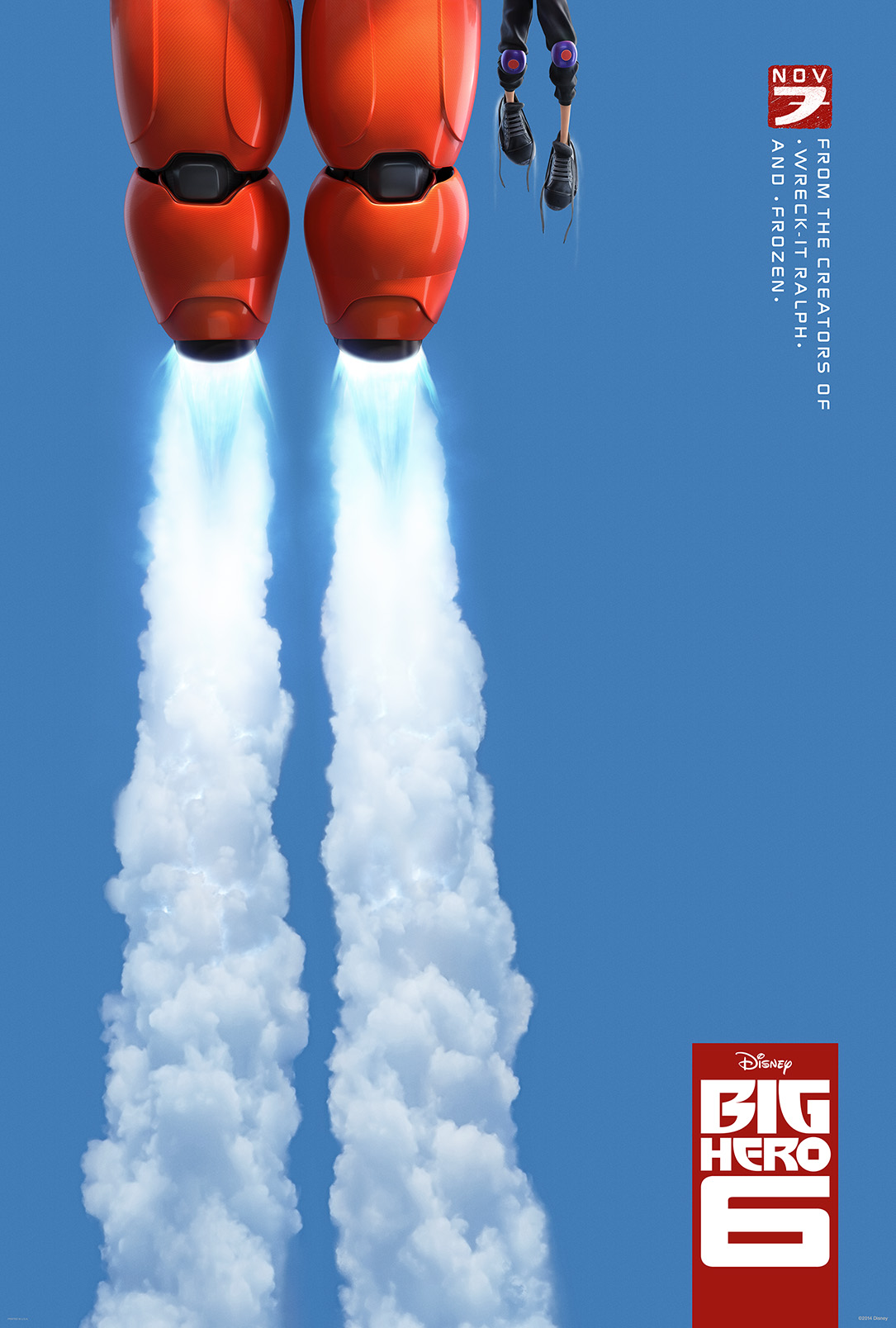 Disney BIG HERO 6 robot teaser poster mecha anime