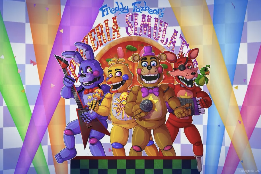 Freddy, Bonnie, Chica and Foxy - The Cast of Five Nights at Freddy's. Freddy Fazbear's Pizzeria Simulator | Five Nights at Freddy's 6