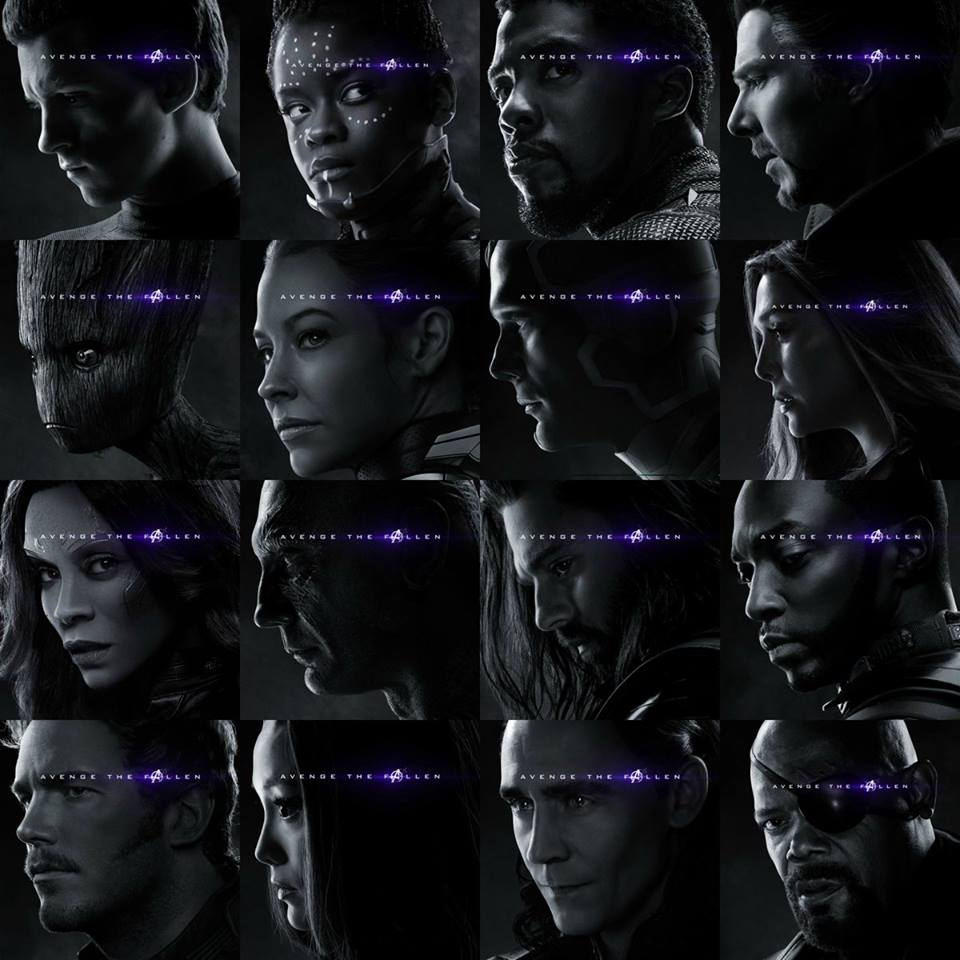 Marvel Releases Avengers End Game Posters For Living And Snapped